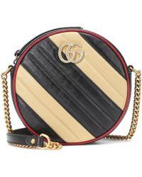 Gucci Bolso GG Marmont Mini de piel - Negro