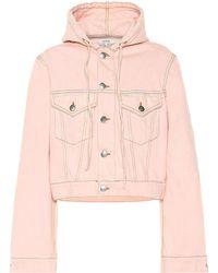 Ganni Hooded Jean Jacket - Pink