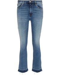 3x1 Jeans de tiro medio cropped - Azul