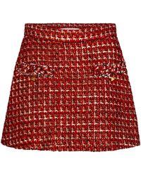 Valentino Minirock aus Tweed - Rot