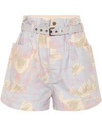 Étoile Isabel Marant Shorts Rike in cotone e lino - Multicolore