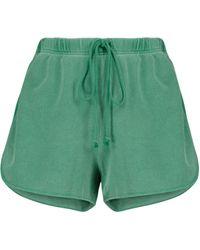Velvet Presely Cotton Shorts - Green