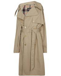 Balenciaga Cotton Trench Coat - Natural