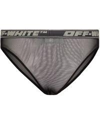 Off-White c/o Virgil Abloh Pantalón corto de malla con logo - Negro