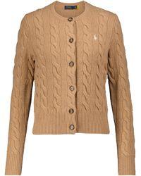 Polo Ralph Lauren Cardigan aus Wolle und Kaschmir - Natur