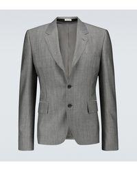 Alexander McQueen Single-breasted Wool-blend Blazer - Grey