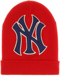3e8b1bcde304b Gucci - Ny Yankees Wool Beanie - Lyst