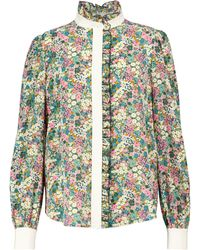 See By Chloé Floral Silk Blouse - Green