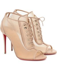 Christian Louboutin Ankle Boots Ondessa 100 - Natur