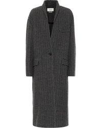 Étoile Isabel Marant Henol Houndstooth Wool Coat - Grey