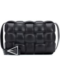 Bottega Veneta Padded Cassette Leather Shoulder Bag - Black