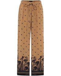 Undercover Bedruckte Hose mit weitem Bein - Natur