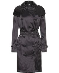 "Burberry Trench ""Kensington"" In Nylon Con Cappuccio - Nero"