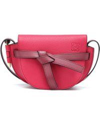 Loewe - Gate Mini Leather Crossbody Bag - Lyst