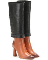 Jacquemus Les Bottes Pantalon Leather Boots - Black