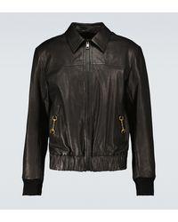 Gucci Veste en cuir - Noir