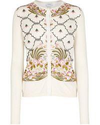Giambattista Valli Embroidered Cashmere And Silk Cardigan - White