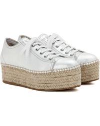 Miu Miu Plateau-Sneakers aus Metallic-Leder - Mettallic