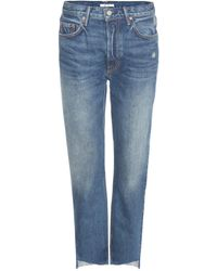GRLFRND - Helena Distressed Jeans - Lyst