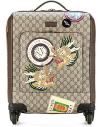 Gucci - GG Supreme Carry-on Suitcase - Lyst