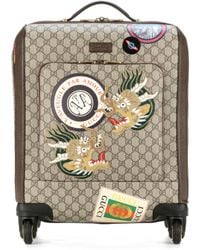 Gucci - Leather-trimmed Carry-on Suitcase - Lyst
