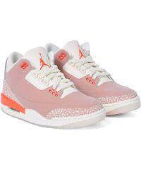 Nike Sneakers Air Jordan 3 Retro aus Leder - Pink