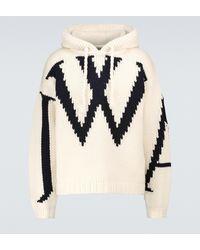 JW Anderson Jersey de lana JWA con capucha - Blanco