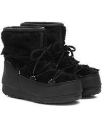Moon Boot Monaco Low Wp 2 Fur Snow Boots - Black