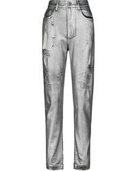 Dolce & Gabbana Distressed Jeans Amber - Mettallic