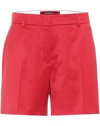 Sies Marjan Sienna Wool Twill Short - Red