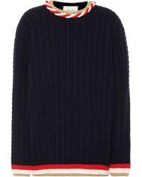 Gucci Pullover aus Wolle und Kaschmir - Blau