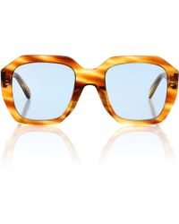 Céline Oversized Square Sunglasses - Brown