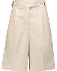 Acne Studios Cotton And Linen Bermuda Shorts - Natural