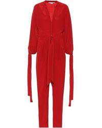 Stella McCartney Jumpsuit aus Seide - Rot