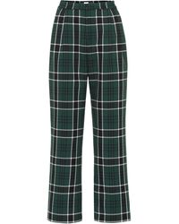 Rosie Assoulin Pantalones Wowzer de cuadros - Verde