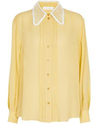Chloé Hemd aus Seide - Gelb