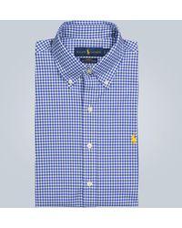 Polo Ralph Lauren Kariertes Hemd aus Baumwolle - Blau