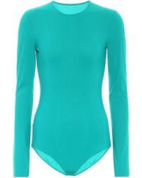 Maison Margiela Body de punto fino elastizado - Azul