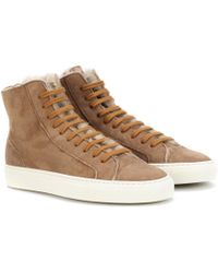 Common Projects - Tournament Shearling Sneakers - Lyst