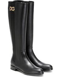 Dolce & Gabbana Stivali in pelle - Nero