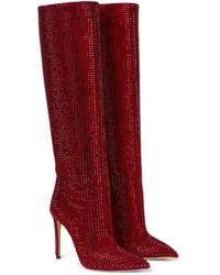 Paris Texas Stiefel Holly aus Veloursleder - Rot