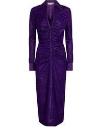 ROTATE BIRGER CHRISTENSEN Simone Ruched Midi Dress - Purple