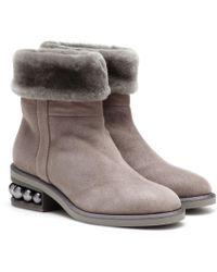 Nicholas Kirkwood Ankle Boots Casati aus Leder - Grau