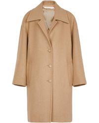 Palm Angels Manteau en laine mélangée - Neutre