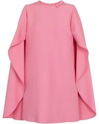 Valentino – Robe en crêpe de laine et soie - Rose