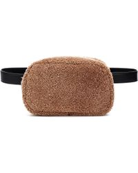 The Row Shearling Belt Bag - Brown