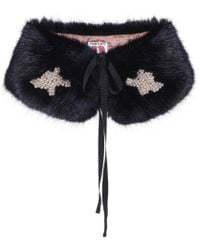 Shrimps - Lucy Faux Fur Shawl - Lyst