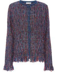 Etro - Metallic Tweed Jacket - Lyst