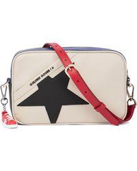 Golden Goose Deluxe Brand Star Leather Crossbody Bag - White