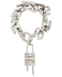 Givenchy Bracelet G Link - Métallisé